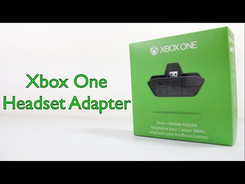 Xbox One Stereo Headset Adapter Unboxing