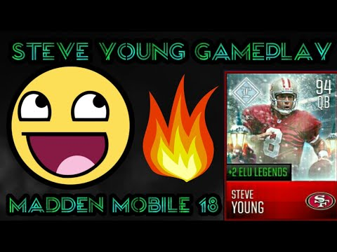 Steve Young Gameplay Madden Mobile 18