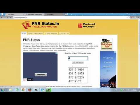pnr status enquiry