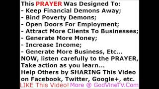 One prayer to break all curses and cast out demons