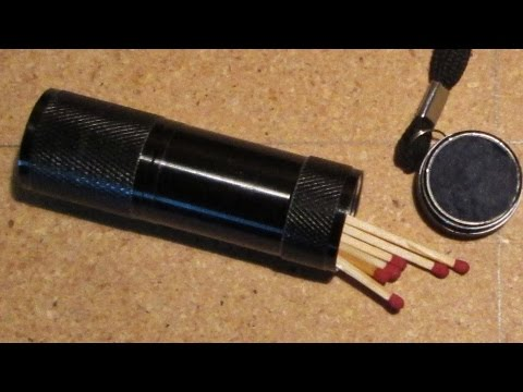Waterproof Match Container made from LED Flashlight Part 1