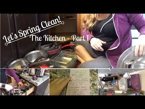 SPRING CLEANING 2018   Kitchen - Part 1 Decluttering the ENTIRE Kitchen!