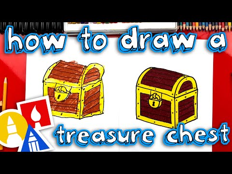 How To Draw A Treasure Chest (parallel lines)