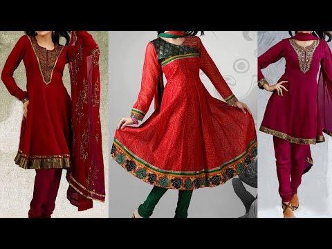 Anarkali Chudidar Cutting and Stitching Anarkali Kurta Dress Top Cross Cut Tailoring Class