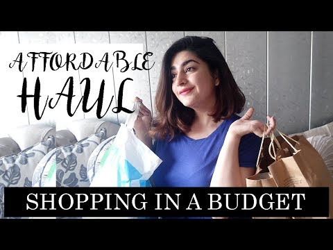 SHOPPING UNDER A BUDGET | AFFORDABLE CLOTHING HAUL & SHOE SHOPPING | GLOSSIPS
