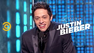 Roast of Justin Bieber - Pete Davidson - Comparing Fathers - Uncensored