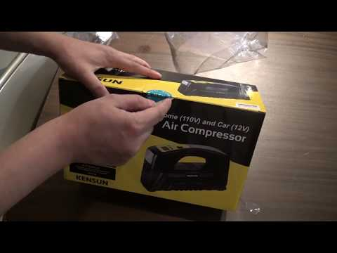 Kensun AC / DC Portable Air Compressor unbox and review