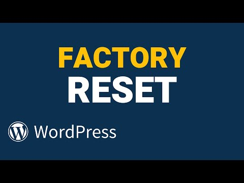How to Reset WordPress to Default Settings [100% Free]