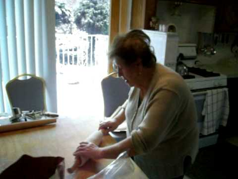 My Nonna making the dough for Cavatelli
