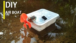 How to make a boat-powerful electric boat-air boat( very simple)