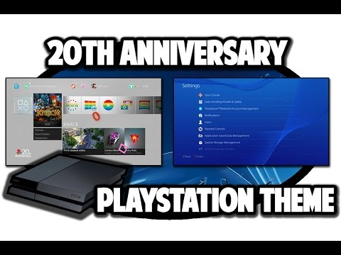 [PS4 THEMES] PlayStation 20th Anniversary Dynamic Theme Video in 60FPS