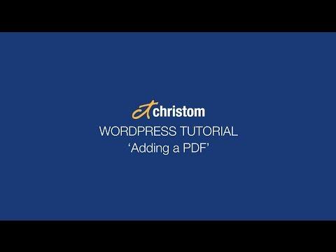 WordPress tutorial - How to add a PDF