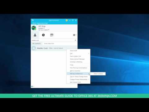 How to Add Contacts in Skype for Business