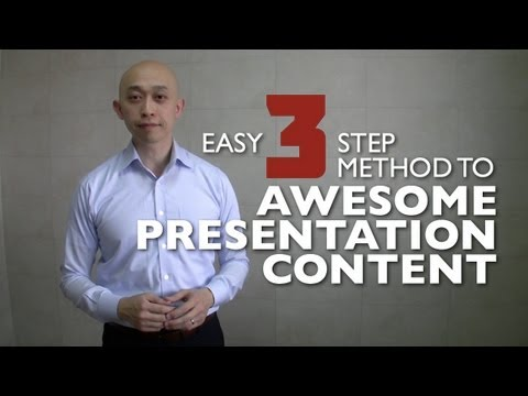 Easy 3 Step Method To Awesome Presentation Content (CC)