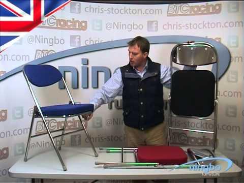 Folding Chrome Chair - Padded