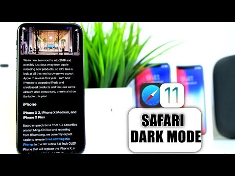 How to get DarkMode in Safari for iOS