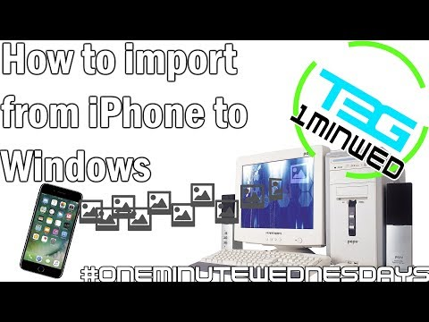 How to transfer photos from iPhone to PC | #OneMinuteWednesdays