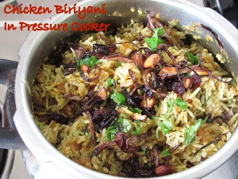 Chicken biriyani in pressure cooker | pressure cooker chicken biriyani | Nisa Homey
