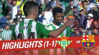 Resumen de Real Betis vs FC Barcelona (1-1)