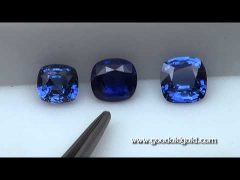 Comparing Three 3ct Blue Sapphire