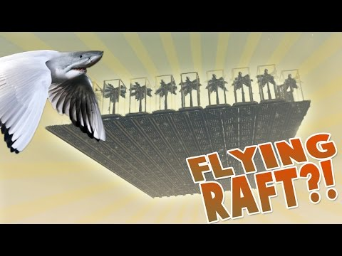 UNLIMITED RESOURCES! Building Flying Raft On Edge Of Map ~ Raft Gameplay ~ Raft Game 1.04 Update