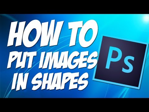HOW TO PUT AN IMAGE IN A SHAPE TUTORIAL | Photoshop CS6 *2013*