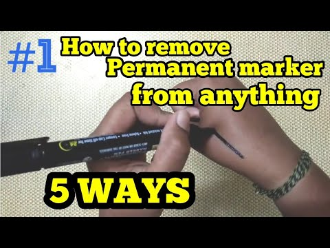 HOW TO REMOVE SHARPIE MARKER FROM HAND/SKIN/ANY SURFACE 5 WAYS