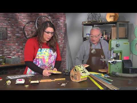 How to use found objects to make a birdhouse on Make It Artsy with Joe Rotella (412-2)