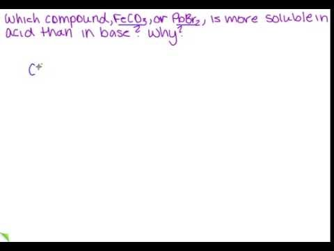 Which compound is more soluble in acid than in base?