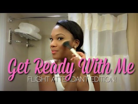 GET READY WITH ME | Flight Attendant Edition!