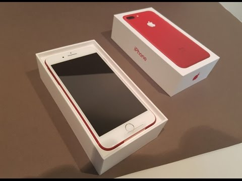 Apple iPhone 7 Plus Product Red Unboxing & Firstlook