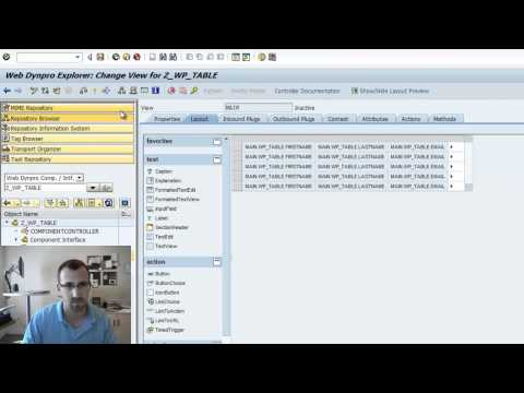 WebDynpro ABAP Table Popin: SAP Tutorial (Part 9)