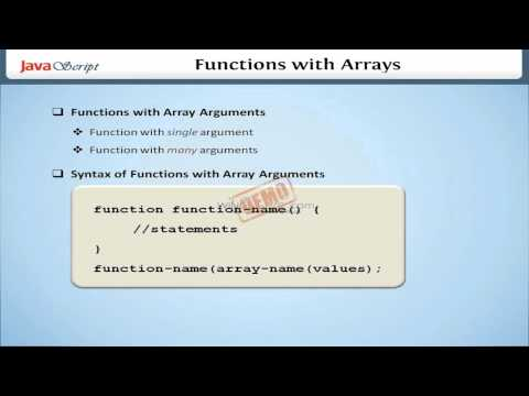 Functions with Arrays in JavaScript HD