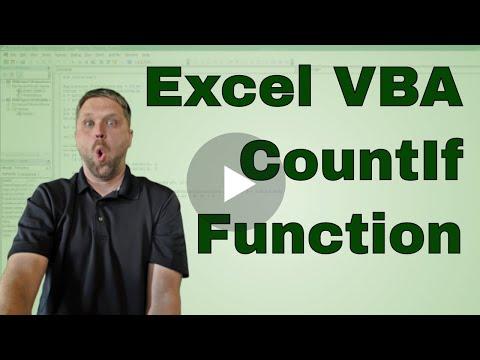 VBA Excel CountIf Function in VBA Code