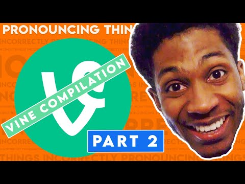 EVERY PRONOUNCING THINGS INCORRECTLY | Chaz Smith Vine Compilation