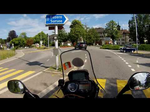 Motorcycle trip to Ireland and Scotland. First day - Safe in Switzerland