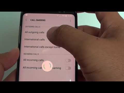 Samsung Galaxy S8: How to Setup Call Barring