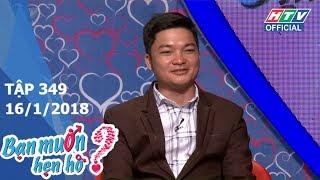 HTV BẠN MUỐN HẸN HÒ | Cô gái xem chỉ tay chọn người yêu | BMHH #349 FULL | 15/1/2018
