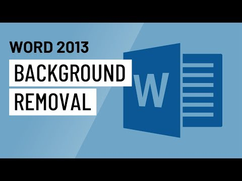 Word 2013: Background Removal