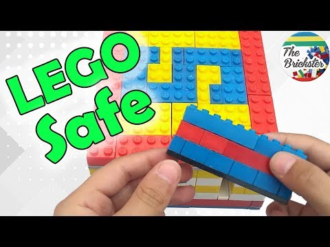 LEGO Safe With Key Card | Tutorial with Mechanism