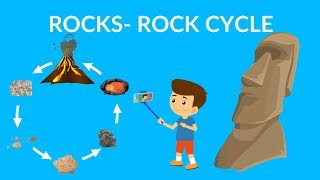 Rock cycle video |  Learn about Types of Rocks | Rock cycle for kids