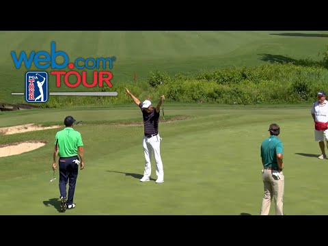 Cameron Percy's long birdie putt at Rex Hospital Open