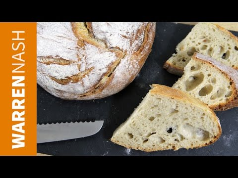 Sourdough Bread Recipe - From scratch with Starter - Recipes by Warren Nash