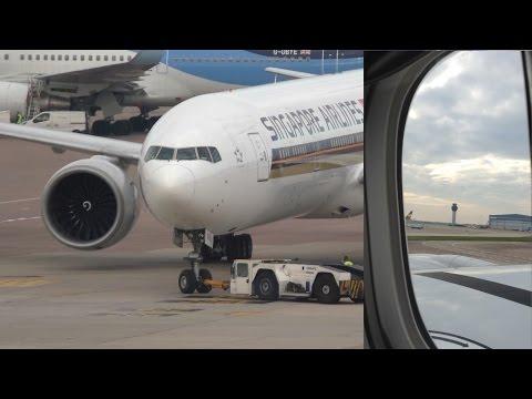Singapore Airlines 777 300ER 9V-SWO Manchester to Singapore Dual Camera