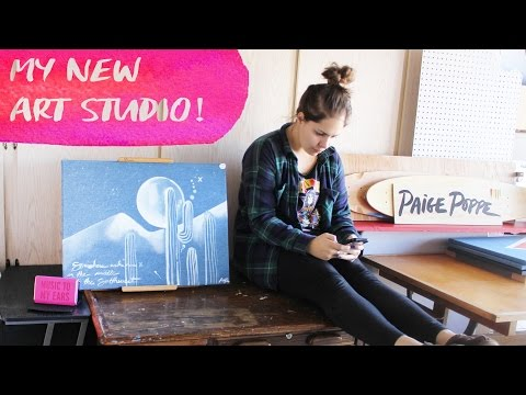 Setting Up My New ART STUDIO! | Paige Poppe - Artist