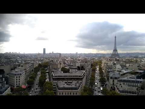 Eiffel Tower view from Arc De Triomphe Paris