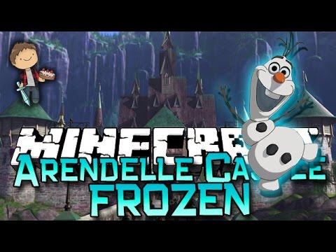 Minecraft: FROZEN ARENDELLE CASTLE CHALLENGE! w/Bajan Canadian & Friends!
