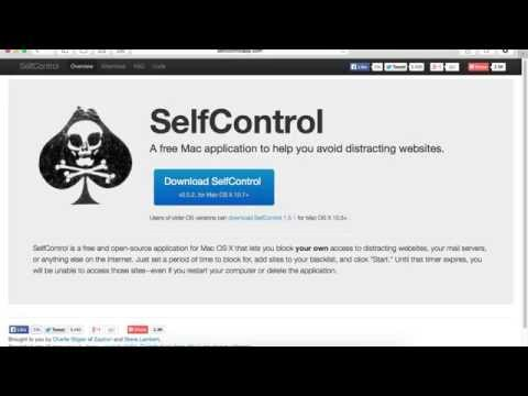 How to block websites that distract you ? Selfcontrol [Mac App review and tutorial]