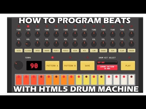 How To Make Beats for Free Online using HTML5 Drum Machine