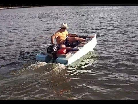 Homemade pontoon Boat under 130$